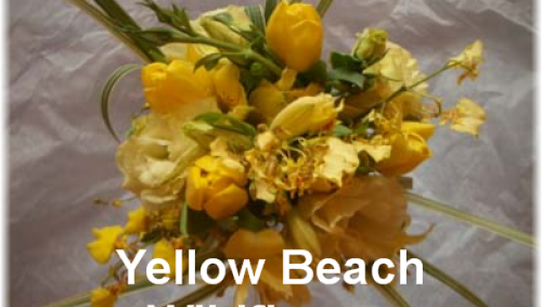 Yellow Beach Wildflower Bouquet