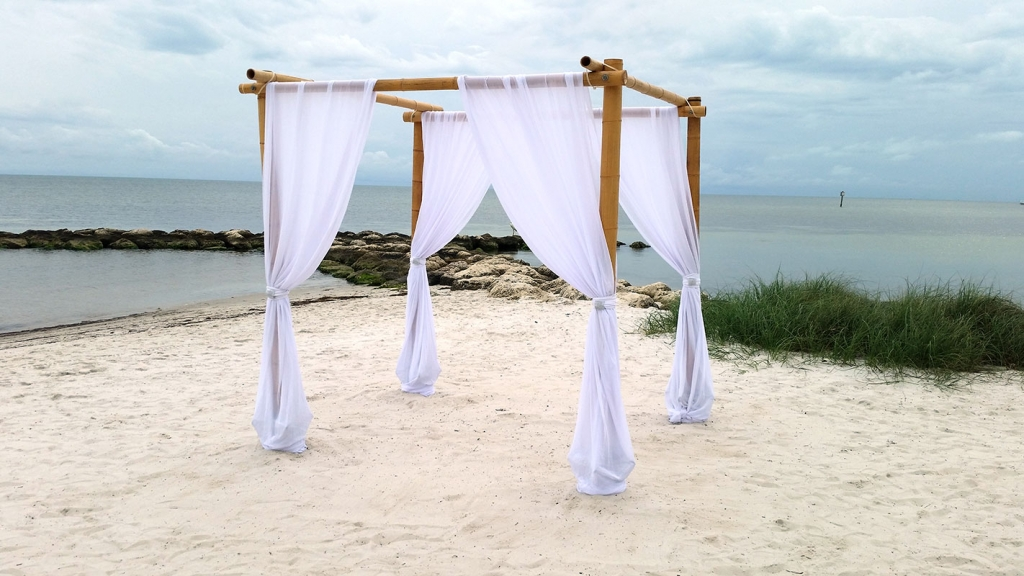 Four Post Bamboo : bamboo wedding canopy - memphite.com